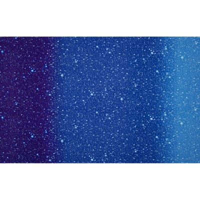 "I Want My Space 57"" Wide Ombre Stars Dark Blue"
