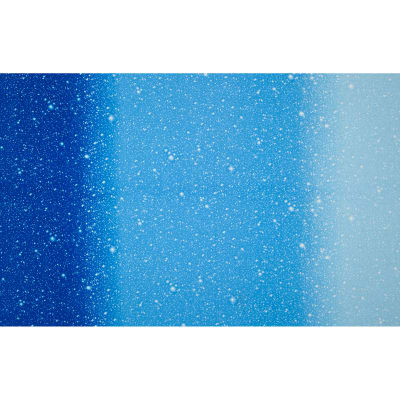 "I Want My Space 57"" Wide Ombre Stars Blue"