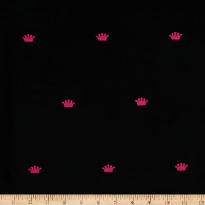 Embroidered 21 Wale Corduroy Crown Black