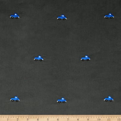 Embroidered 21 Wale Corduroy Truck Graphite/Blue
