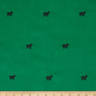 Embroidered 21 Wale Corduroy Dog Green/Black