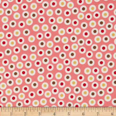 Zoe & Zack Flannel Circle Dots Pink