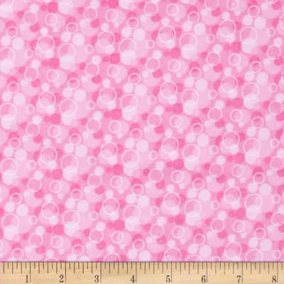 Flannel Tossed Bubbles Pink