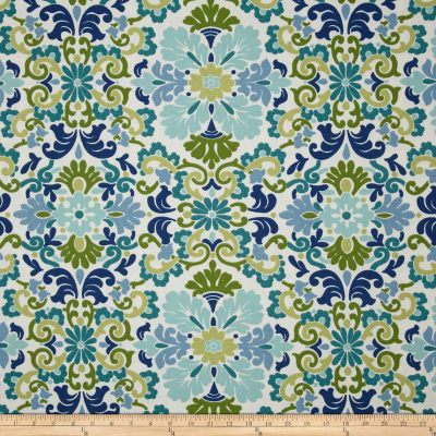 Waverly Folk Damask Seaspray