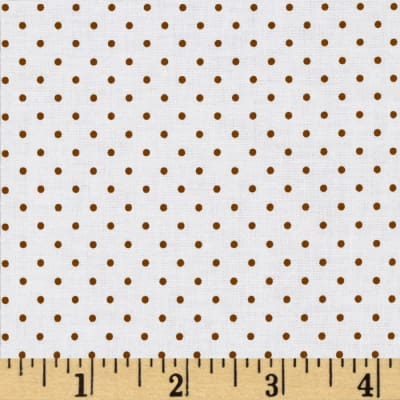 Riley Blake Swiss & Dots White/Brown