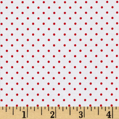 Riley Blake Swiss & Dots White/Red