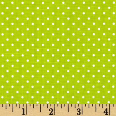 Riley Blake Swiss & Dots Lime/White