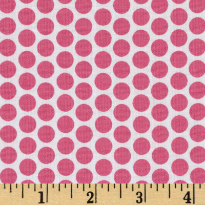 Riley Blake Honeycomb Reversed Dot White/Hot Pink