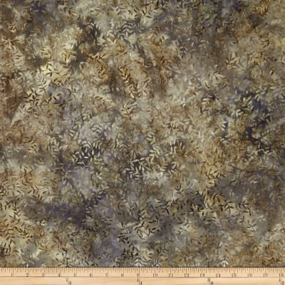 Timeless Treasures 108'' Wide Tonga Batik Quilt Backing Viney Leaf Taupe