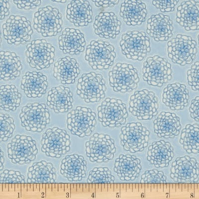 Cotton Candy Flannel Mums Blue