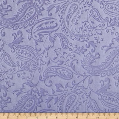 Shannon Minky Embossed Paisley Cuddle Lavender