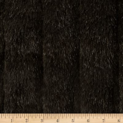Faux Fur Tip Dyed Mink Brown