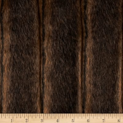 Shannon Faux Fur Fancy Mink Brown