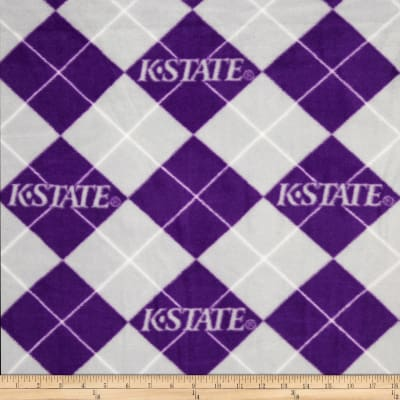 Collegiate Fleece Kansas State Argyle Royal Purple