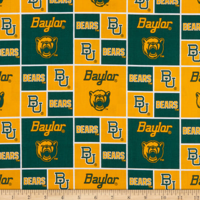 Collegiate Cotton Broadcloth Baylor