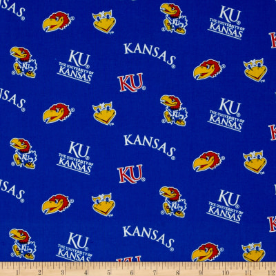 Collegiate Cotton Broadcloth University of Kansas