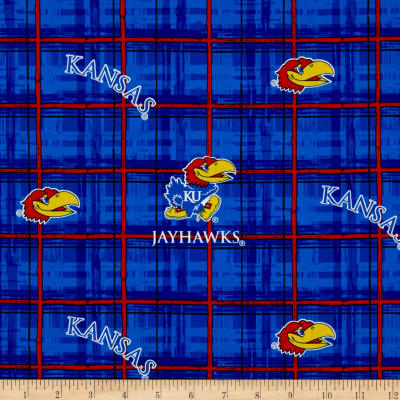Collegiate Cotton Broadcloth University of Kansas Jayhawk