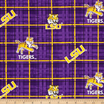 Collegiate Cotton Broadcloth Louisiana State University Purple