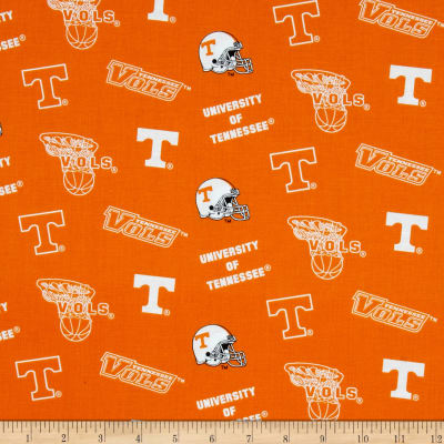 Collegiate Cotton Broadcloth University of Tennessee Orange