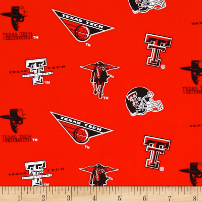 Collegiate Cotton Broadcloth Texas Tech