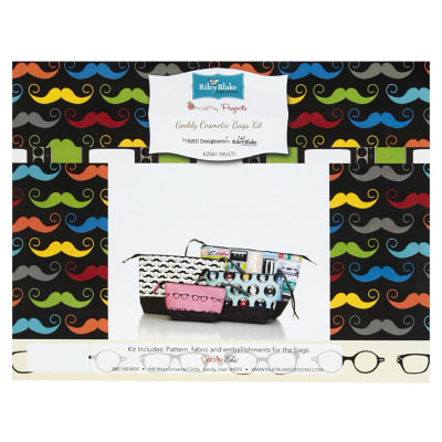 Riley Blake Geekly Cosmetic Bags Kit