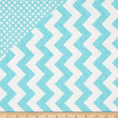 Riley Blake Double Sided Quilted Medium Chevron Aqua