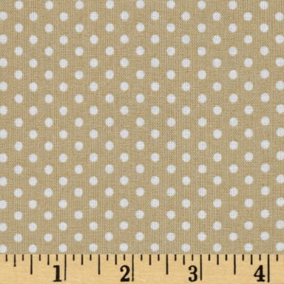 Kaufman Spot On Pindot Khaki