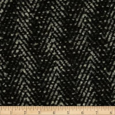 Boucle Coating Zig Zag Black/Grey