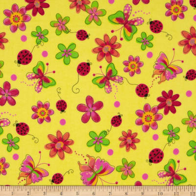 Flannel Butterfly Yellow