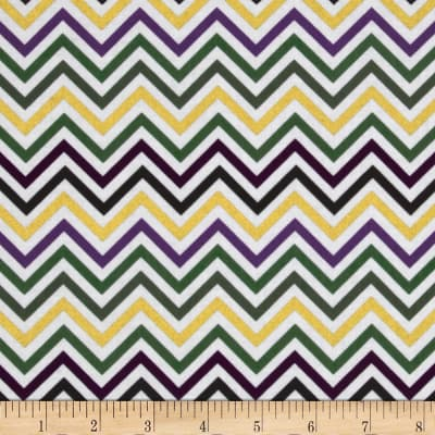 Remix Metallic Small Chevron Mardi Gras