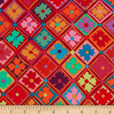 Kaffe Fassett Antwerp Flowers Red