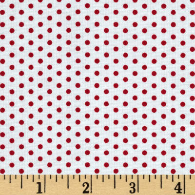 Kaufman Spot On Pindot Poppy