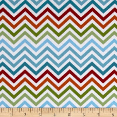 Woodland Friends Flannel Chevron Multi