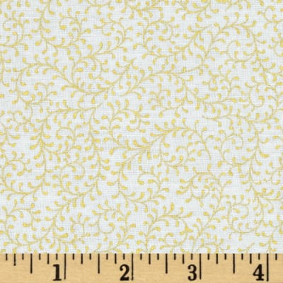 Royal Peacock Metallic Filigree Vine White/Gold