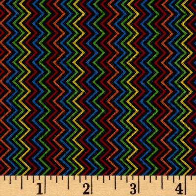 Timeless Treasures Chevron Black