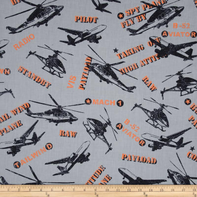 Flyboy Tossed Aircrafts Grey