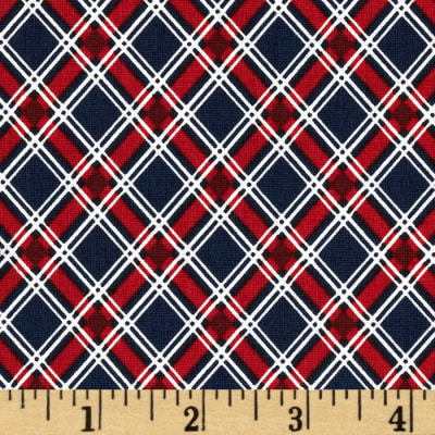 Love & Glory Small Plaid Red/Navy