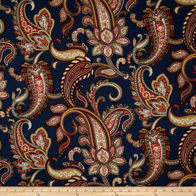 Duralee Home Lucy Paisley Navy