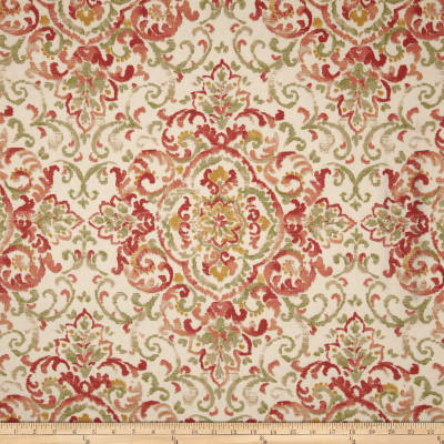 Duralee Home Quentin Damask Rose/Green