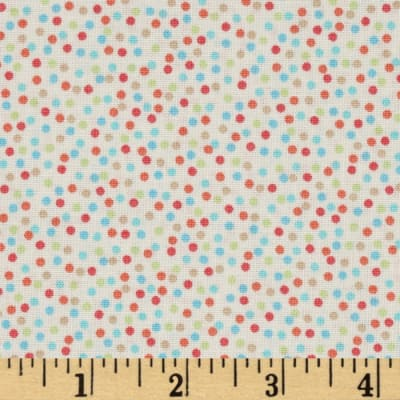 Timeless Treasures Hootenanny Organic Dots Multi