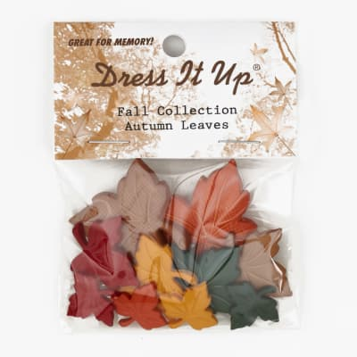 Dress It Up Embellishment Buttons  Autumn Leaves