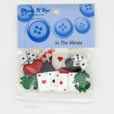 Dress It Up Embellishment Buttons  In The Money