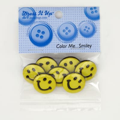 Dress It Up Embellishment Buttons  Color Me Smiley