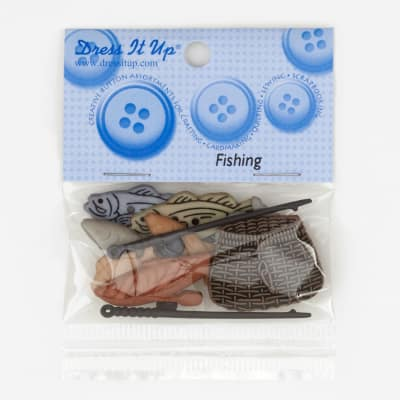 Dress It Up Embellishment Buttons  Fishing