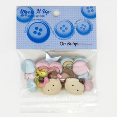 Dress It Up Embellishment Buttons  Oh Baby