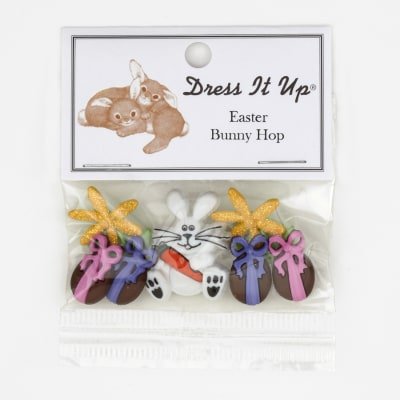 Dress It Up Embellishment Buttons  Bunny Hop