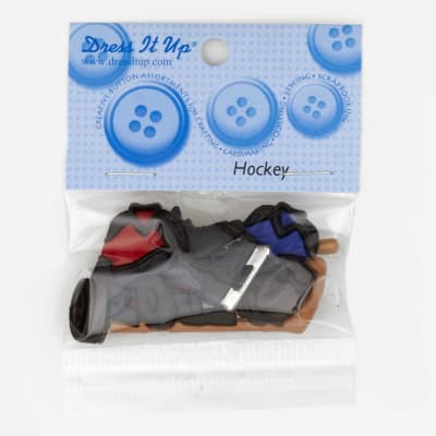 Dress It Up Embellishment Buttons  Hockey