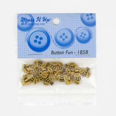 Dress It Up Embellisment Buttons  Tiny Bees