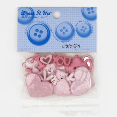 Dress It Up Embellishment Buttons  Mm Little Girl