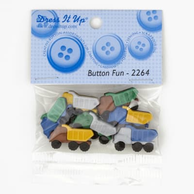 Dress It Up Embellisment Buttons  Button Fun Trucks
